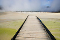 "Waiotapu geothermal area; board walk near ""Champagne Pool"", North Island, New Zealand"