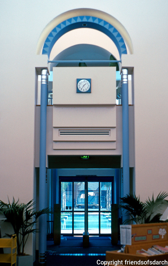 Charles Moore: Ocenaside Public Library--Interior. (Photo '91)