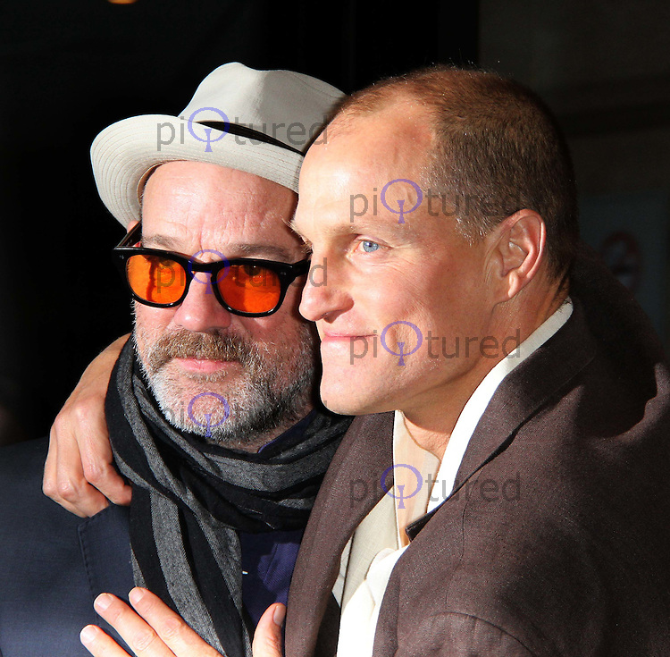 Michael Stipe; Woody Harrelson Rampart premiere at the 55th BFI London Film Festival, Vue Cinema, Leicester Square, London, UK. 15 October 2011. Contact: Rich@Piqtured.com +44(0)7941 079620 (Picture by Richard Goldschmidt)