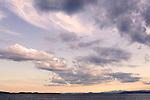 Clouds over Lake Champlain in Burlington, Vermont