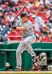 3 April 2017: Miami Marlins catcher J.T. Realmuto in action against the Washington Nationals on Opening Day at Nationals Park in Washington, DC. The Nationals defeated the Marlins 4-2 to open the 2017 MLB Season. Mandatory Credit: Ed Wolfstein Photo *** RAW (NEF) Image File Available ***