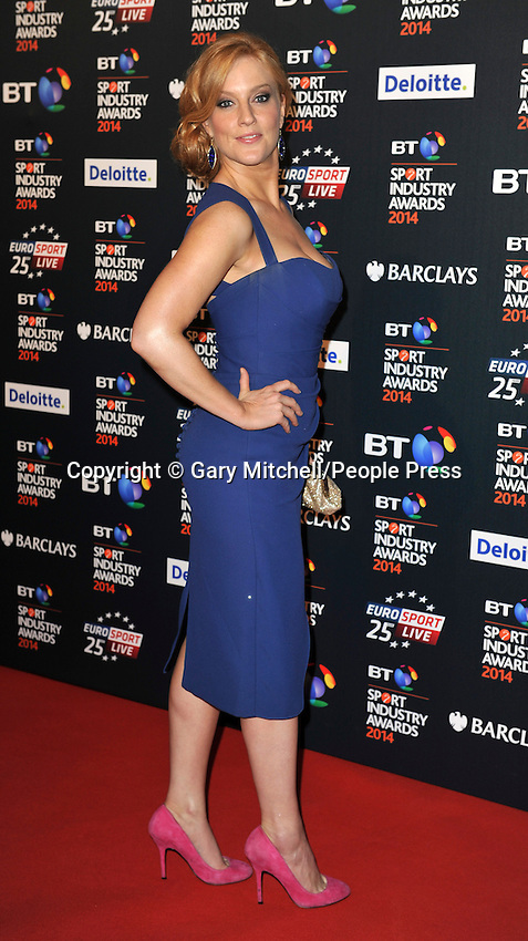 Elise Christie attends the BT Sport Industry Awards at Battersea Evolution on May 8, 2014 in London, England