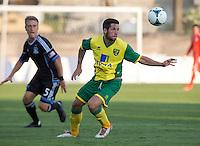Santa Clara, California -Saturday, July 20 2013: San Jose Earthquakes defeated Norwich City  Norwich City FC of the English Premier League 1-0 in an international friendly at Buck Shaw Stadium