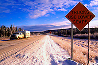 Alaska Highway, Northern Rockies, BC, British Columbia, Canada - Winter