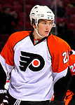 7 December 2009: Philadelphia Flyers' left wing forward James van Riemsdyk warms up prior to a game against the Montreal Canadiens at the Bell Centre in Montreal, Quebec, Canada. The Canadiens defeated the Flyers 3-1. Mandatory Credit: Ed Wolfstein Photo