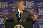 07 Jun 2006 Omaha, NE.President Bush discusses his immigration reform plan at Metropolitan Community College in the traditionally hispanic South Omaha Neighborhood Wednesday afternoon.(photo by (Chris Machian/Prairie Pixel Group)