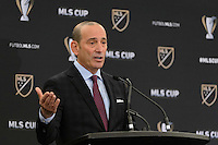 Toronto, ON, Canada - Friday Dec. 09, 2016: MLS commissioner Don Garber during the State of the League Address at the InterContinental Hotel.