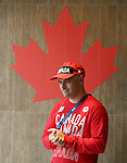 Rio de Janeiro-5/9/2016- Assistant Chef de Mission Norm O'Reilly talks tot eam Canada pep rally in the athletes village at the Paralympic Games in Rio. Photo Scott Grant/Canadian Paralympic Committee