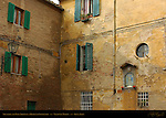 Shutters and Wall Shrine, Medieval Courtyard, Via di San Marco, Siena, Italy