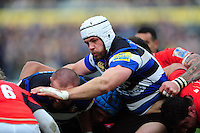 Dave Attwood of Bath Rugby in action at a maul. Aviva Premiership match, between Bath Rugby and Saracens on December 3, 2016 at the Recreation Ground in Bath, England. Photo by: Patrick Khachfe / Onside Images