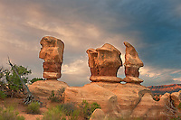 792800282 the trolls sandstone formation at sunrise in devils garden along hole-in-the-rock road near escalante in escalante grand staircase national monument utah united states