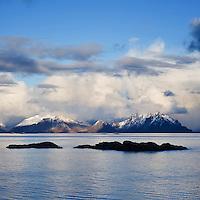 View from Stamsund towards Austvågøy, Lofoten islands, Norway