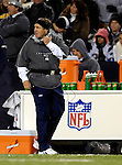 18 November 2007: New England Patriots Head Coach Bill Belichick glances towards the scoreboard during a game against the Buffalo Bills at Ralph Wilson Stadium in Orchard Park, NY. The Patriots defeated the Bills 56-10 in their second meeting of the season...Mandatory Photo Credit: Ed Wolfstein Photo