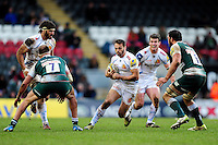 Phil Dollman of Exeter Chiefs in possession. Aviva Premiership match, between Leicester Tigers and Exeter Chiefs on March 6, 2016 at Welford Road in Leicester, England. Photo by: Patrick Khachfe / JMP