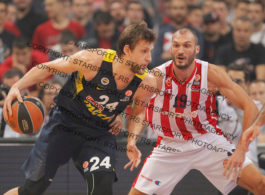Kosarka Euroleague season 2015-2016<br /> Euroleague <br /> Crvena Zvezda v Fenebahce Istanbul<br /> Jan Vesely and Marko Simonovic<br /> Beograd, 06.11.2015.<br /> foto: Srdjan Stevanovic/Starsportphoto &copy;