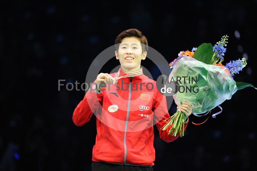 SHORT TRACK: ROTTERDAM: Ahoy, 11-03-2017, KPN ISU World Short Track Championships 2017, Podium 500m Ladies, Kexin Fan (CHN), ©photo Martin de Jong
