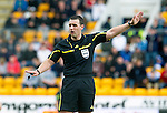 St Johnstone v Dundee Utd....21.04.12   SPL.Ref Euan Norris.Picture by Graeme Hart..Copyright Perthshire Picture Agency.Tel: 01738 623350  Mobile: 07990 594431