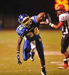 Oxford High's (34) intercepts a pass vs. Center Hill in Oxford, Miss. on Friday, September 23, 2011.