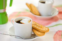 Italian Espresso and Biscuits for Two