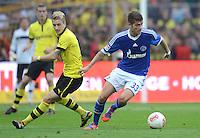 Fussball 1. Bundesliga :  Saison   2012/2013   8. Spieltag  20.10.2012 Borussia Dortmund - FC Schalke 04 Marco Reuss (li, Borussia Dortmund) gegen Roman Neustaedter (FC Schalke 04)