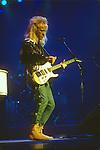Davey Johnstone guitarist for  Elton John performing live at Universal Ampitheatre - Oct 12, 1986 Elton John