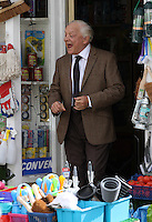 Sir David Jason arrives on set in Doncaster to film a new series of Open All Hours<br /> Monday 12th September 2016<br /> <br /> Mandatory Credit - Alex Roebuck / www.alexroebuck.co.uk