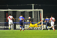 Jozy Altidore of USA scores on penalty kick. USA defeated Peru 2-1 during a Friendly Match at the RFK Stadium in Washington, D.C. on Friday, September 4, 2015.  Alan P. Santos/DC Sports Box