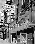 Pittsburgh PA:  A view of a Pittsburgh Paint store - 1955.  Photography was completed for W Craig Chambers Advertising .