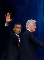 CHARLOTTE, NC - September and former President Bill Clinton at return backstage at the 2012 Democratic National Convention.