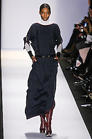Melodie Monrose walks the runway in an out by Max Azria, for the BCBGMAXAZRIA Fall 2011 fashion show, during Mercedes Benz Fashion Week.