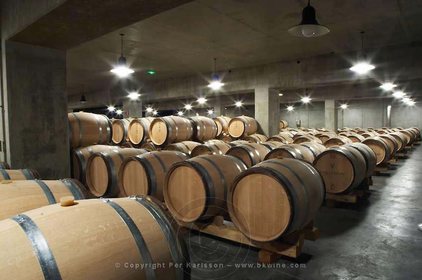 barrel aging cellar georges duboeuf beaujolais burgundy france