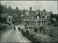BNPS.co.uk (01202 558833)<br /> Pic: BNPS<br /> <br /> Sir Arthur Conan Doyle's children Mary and Kingsley on the driveway of the property.<br /> <br /> Much like his famous fictional detective, Sir Arthur Conan Doyle's former home has been brought back from the dead.<br /> <br /> Undershaw, the home the author helped design, fell into disrepair after the hotel which ran there for 80 years closed in 2004 but in a resurrection worthy of Sherlock Holmes himself the derelict landmark has been restored to its former glory.<br /> <br /> The building is now part of Stepping Stones, a special needs school in Hindhead, Surrey, and has been nominated for a heritage award.