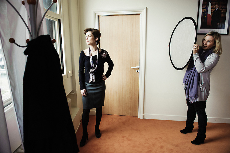 PARIS, FRANCE. FEBRUARY 21, 2011. Chantal Jouanno, French Sports Minister, in an office at the Health Minister. (photo : Antoine Doyen)