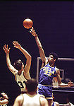 "22 MAR 1969:  Lew Alcindor ""Kareem Abdul-Jabbar"" (33) puts up a shot over a Purdue defender during the Men's Final Four Basketball Championship game held in Louisville, KY at Freedom Hall. Ucla defeated Purdue 92-72 for the title. Photo Copyright Rich Clarkson"