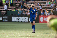Seattle, WA - Sunday, May 21, 2017: Christine Nairn during a regular season National Women's Soccer League (NWSL) match between the Seattle Reign FC and the Orlando Pride at Memorial Stadium.