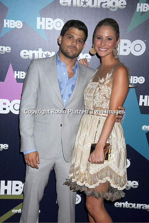 """Jerry Ferrara and girlfriend attending The Eighth and Final Season Premiere of the HBO Show """"Entourage"""" on July 19, 2011 at The Beacon Theatre in New York City."""