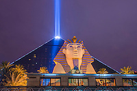 LAS VEGAS - JAN 24: The Luxor hotel and casino on January 24, 2013 in Las Vegas. Las Vegas in 2012 broke the all-time visitor volume record of 39-plus million visitors