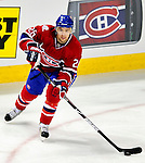 10 April 2010: Montreal Canadiens' defenseman Josh Gorges in action during the last game of the regular season against the Toronto Maple Leafs at the Bell Centre in Montreal, Quebec, Canada. The Leafs defeated the Habs 4-3 in sudden death overtime as the Canadiens advance to the Stanley Cup Playoffs with the single point. Mandatory Credit: Ed Wolfstein Photo
