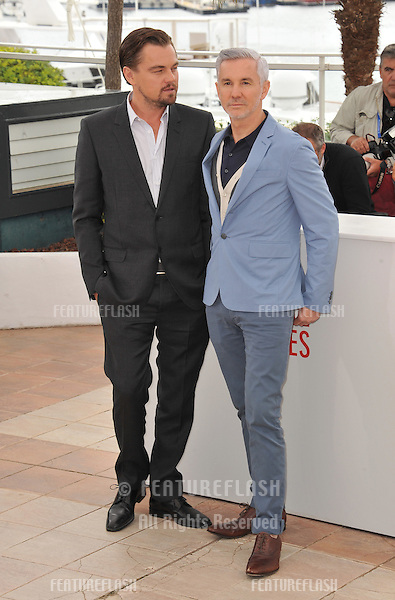 """Leonardo DiCaprio & director Baz Luhrmann at the photocall for their movie """"The Great Gatsby"""" at the 66th Festival de Cannes..May 15, 2013  Cannes, France.Picture: Paul Smith / Featureflash"""