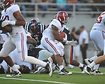 Alabama running back Trent Richardson (3) scores a touchdown at Vaught-Hemingway Stadium in Oxford, Miss. on Saturday, October 14, 2011. Alabama won 52-7.