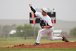 Vale pitcher Kyle Barras throws during the 3A Oregon State Baseball Championships first round playoff game against Rogue River on May 25, 2011 at Cammann Field, Vale, Oregon...Barras pitched a twelve strikeout, one hitter in the 12-2 Vale win.