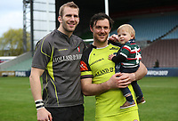 Leicester Tigers Tom Croft and Leicester Tigers&rsquo; Matt Smith<br /> <br /> Photographer Rachel Holborn/CameraSport<br /> <br /> Anglo-Welsh Cup Final - Exeter Chiefs v Leicester Tigers - Sunday 19th March 2017 - The Stoop - London<br /> <br /> World Copyright &copy; 2017 CameraSport. All rights reserved. 43 Linden Ave. Countesthorpe. Leicester. England. LE8 5PG - Tel: +44 (0) 116 277 4147 - admin@camerasport.com - www.camerasport.com