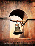 A bell hanging in a tower