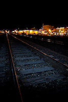 """Downtown Truckee Tracks""- These railroad tracks were photographed in Downtown Truckee, in the early morning."