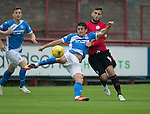 Brechin City v St Johnstone&hellip;26.07.16  Glebe Park, Brechin. Betfred Cup<br />Michael Coulson holds off Darren McCormack<br />Picture by Graeme Hart.<br />Copyright Perthshire Picture Agency<br />Tel: 01738 623350  Mobile: 07990 594431