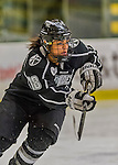 1 February 2015: Providence College Friar Defender Arianna Reid, a Sophomore from Lakeville, MN, in second period action against the University of Vermont Catamounts at Gutterson Fieldhouse in Burlington, Vermont. The Friars fell to the Lady Cats 7-3 in Hockey East play. Mandatory Credit: Ed Wolfstein Photo *** RAW (NEF) Image File Available ***