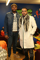 NEW YORK, NY - NOVEMBER 23, 2016 Carmelo Anthony & French Montana attend the Educational Alliance Boys & Girls Club Thanksgiving Event, November 23, 2016 in New York City. Photo Credit: Walik Goshorn / Mediapunch