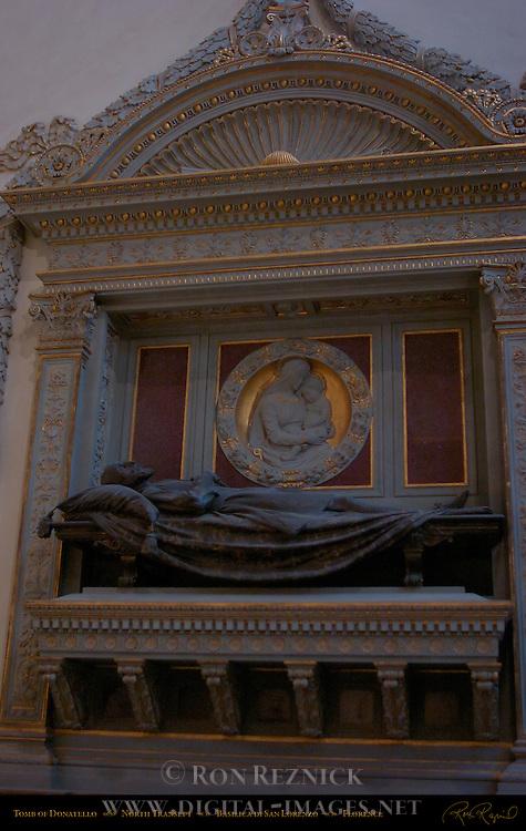 Donatello Tomb North Transept Basilica di San Lorenzo Florence