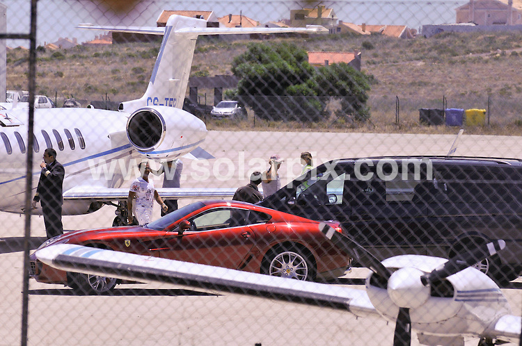**ALL ROUND PICTURES FROM SOLARPIX.COM**.**WORLDWIDE SYNDICATION RIGHTS EXCEPT FOR PORTUGAL AND SPAIN** **NO PUBLICATION IN PORTUGAL OR SPAIN**.Cristiano Ronaldo arriving by his private jet & picking up his Ferrari in Lisbon Portugal for a holiday with his family in the Algarve...This pic:Cristiano Ronaldo..JOB REF:9329      NPP     DATE:20.06.09.**MUST CREDIT SOLARPIX.COM OR DOUBLE FEE WILL BE CHARGED**.***ONLINE USAGE FEE GBP 50.00 PER PICTURE - NOTIFICATION OF USAGE TO PHOTO @ SOLARPIX.COM**.**CALL SOLARPIX : +34 952 811 768 or LOW RATE FROM UK 0844 617 7637**