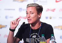 Vancouver, Canada - July 3, 2015:  The USWNT held a press conference before the FIFA Women's World Cup Final at BC Place.